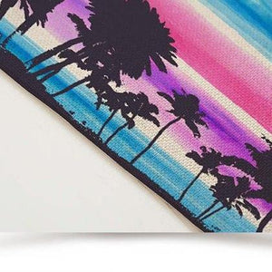 2-6 Piece Tropical Palm Tree Print Table Placemat Set