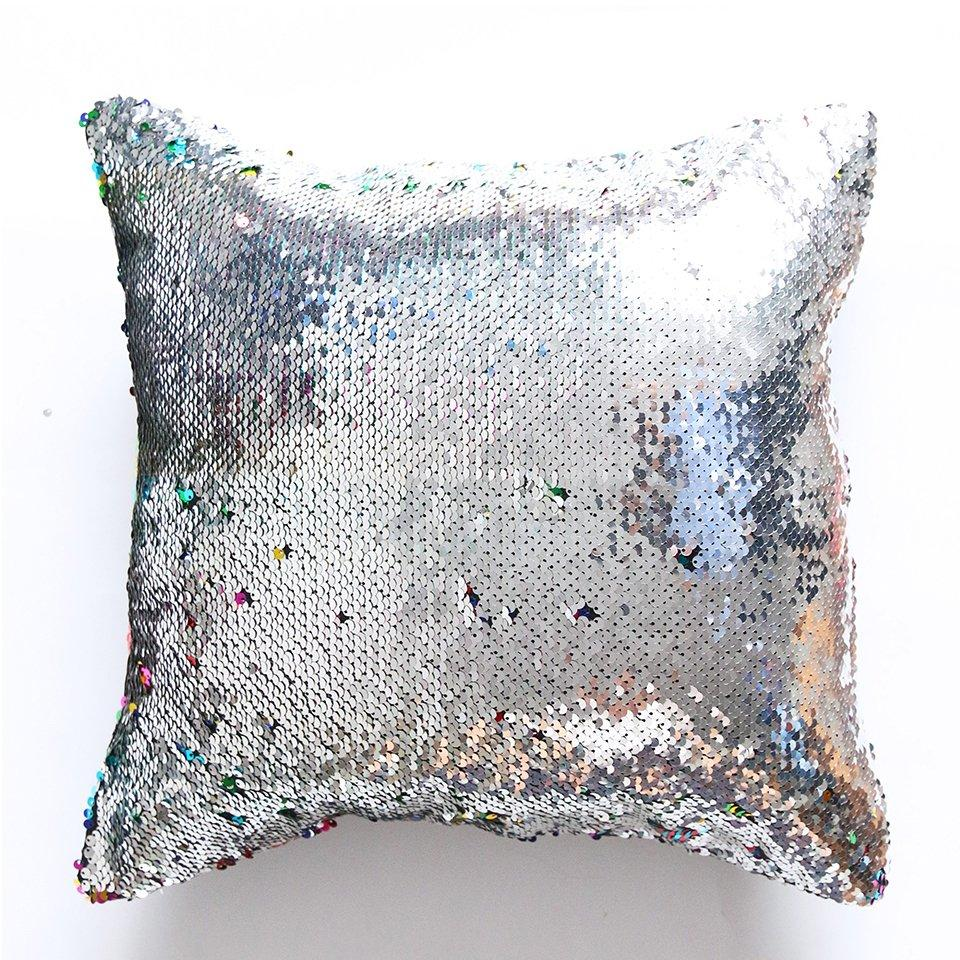 "16"" Color-Changing Sequin Throw Pillow Cover"
