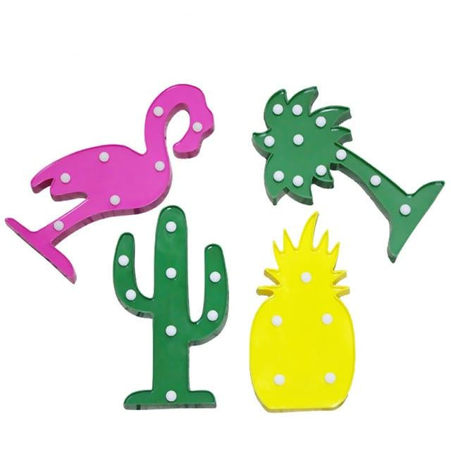 Tropical Flamingo / Pineapple / Cactus LED Accent Light