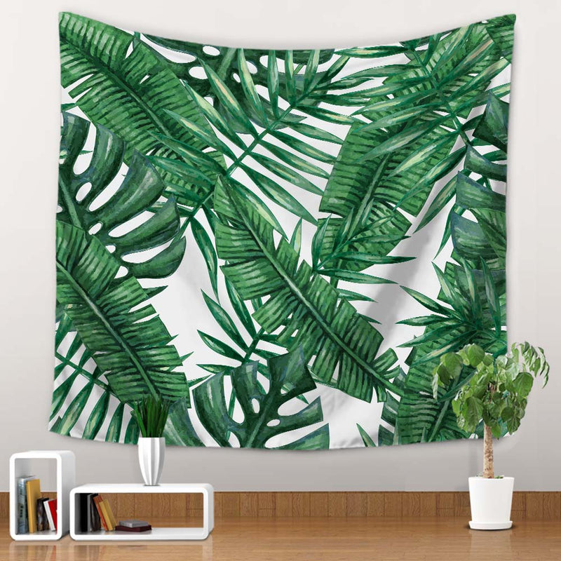 Tropical Palm Leaf Print Wall Tapestry