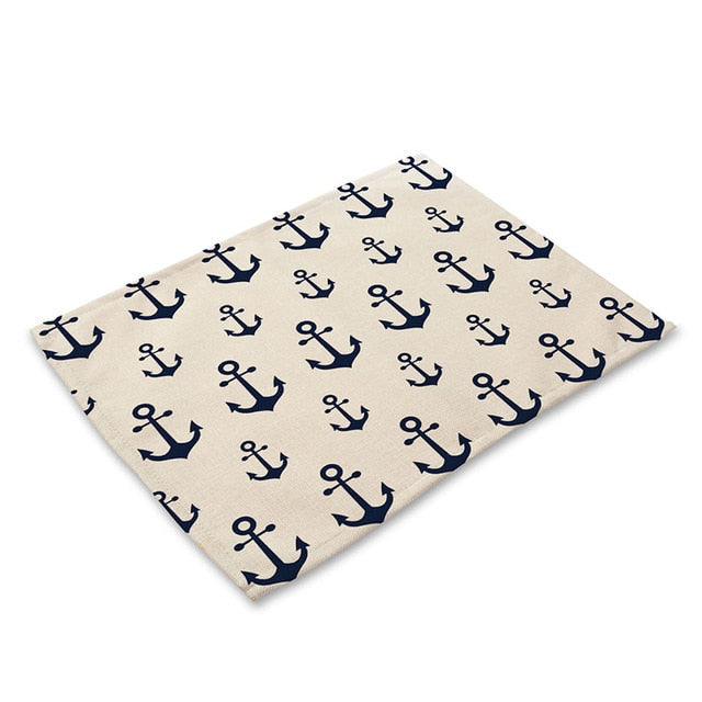 Blue Nautical Marine Pattern Table Placemat