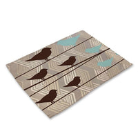 Contemporary Nordic Bird Print Table Placemat