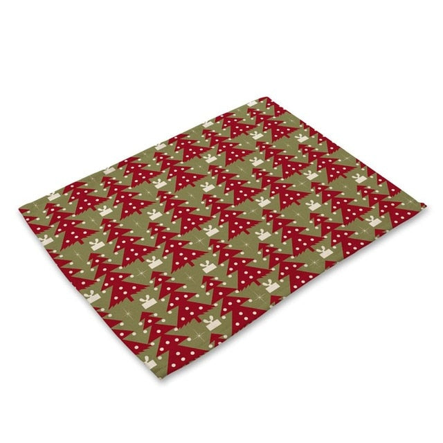 Red / Green Christmas Pattern Table Placemat