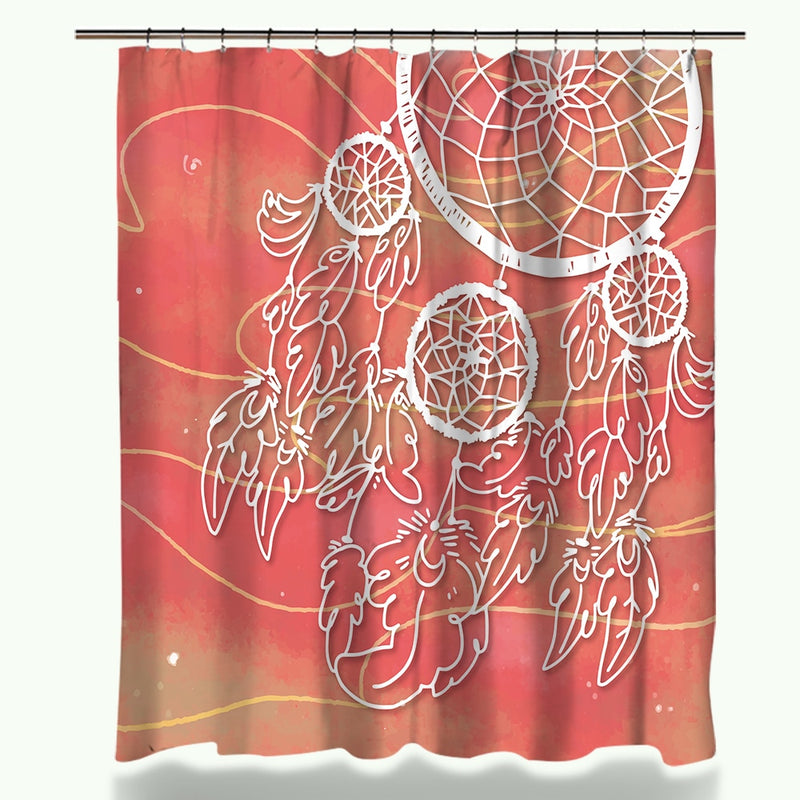Multi-Color Dreamcatcher Shower Curtain / Bath Mat