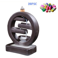 Round Multi-Tier Zen Backflow Incense Burner