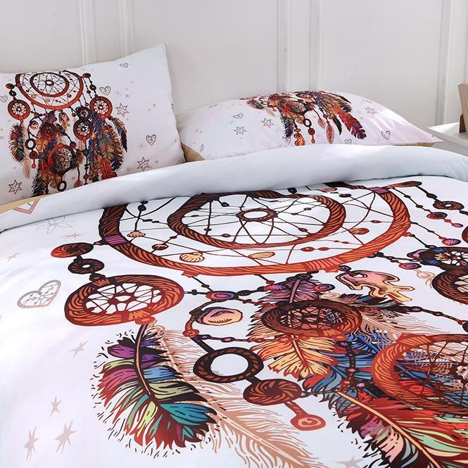 2/3-Piece Multi-Color Dreamcatcher Duvet Cover Bedding Set