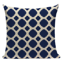 "18"" Navy Blue Marine Inspiration Throw Pillow Cover"