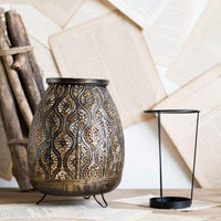 Vintage Moroccan-Style Metal Tealight Candle Holder
