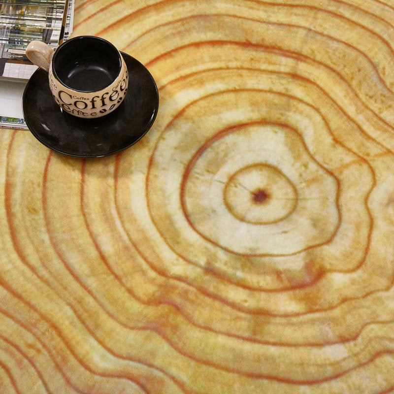 Round Wood Stump / Tree Ring Floor Mat Rug