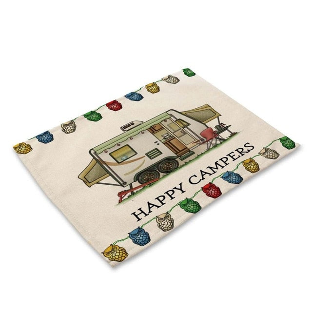 Happy Campers RV Camping Table Placemat