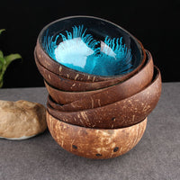 Colorful Coral Pattern Coconut Shell Candy / Snack Bowl