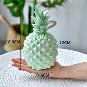 Multi-Color Modern Resin Pineapple Sculpture