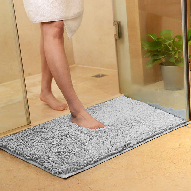 Thick Shaggy Non-Slip Chenille Bathroom Rug Floor Mat
