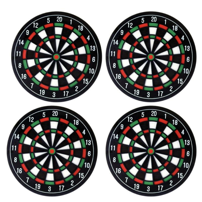 4-Piece Mini Dart Board Drink Coaster Set