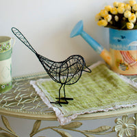 Decorative Vintage Metal Wire Bird Sculpture