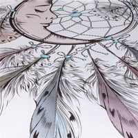 White Moon Dreamcatcher Wall Tapestry