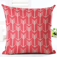 "18"" Geometric Nordic Arrow Pattern Throw Pillow Cover"