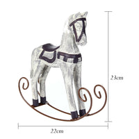 Decorative White Vintage Wood Rocking Horse