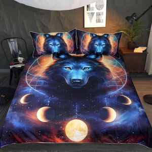 3-Piece Lunar Wolf Dream Catcher by JoJoes Duvet Set