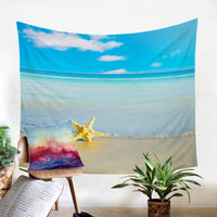 Tropical Beach Ocean Starfish Wall Tapestry