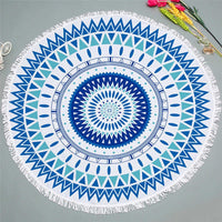 Round Bohemian Ethnic Pattern Beach Towel