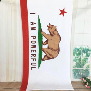 I Am Powerful California Flag Beach Towel