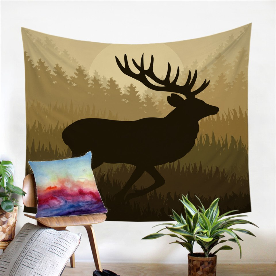 Forest Roaming Elk / Deer Wall Tapestry