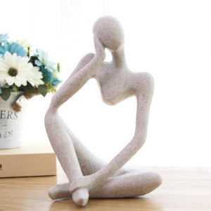 Modern Abstract Thinking Man Resin Sandstone Sculpture