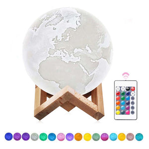 Multi-Color 3D LED Earth Lamp Night Light