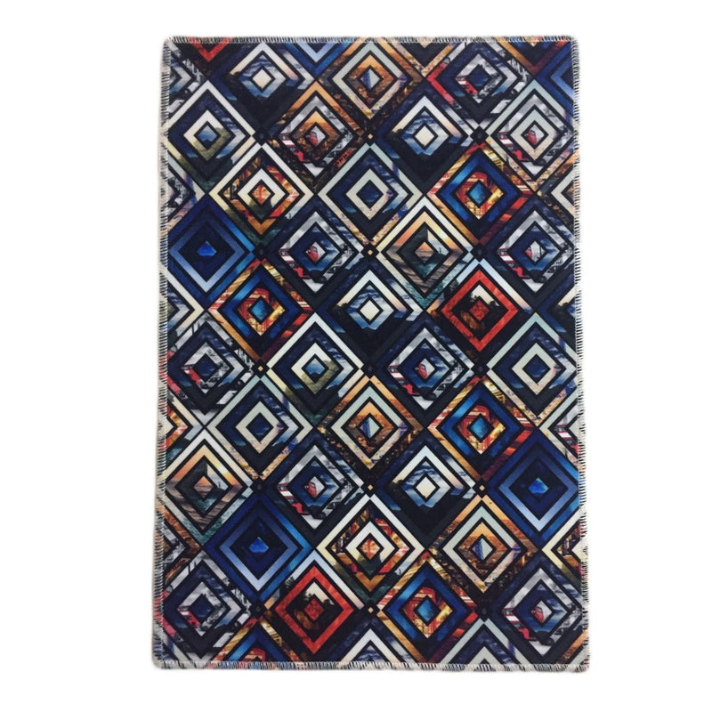 Abstract Geometric Pattern Printed Area Rug Floor Mat
