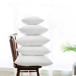 White Down Alternative Throw Pillow / Cushion Insert