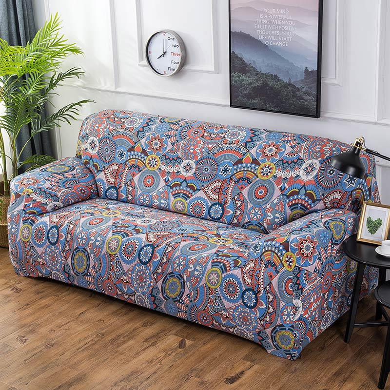 Amazing Multi Color Bohemian Pattern Sofa Couch Cover Decorzee Gamerscity Chair Design For Home Gamerscityorg