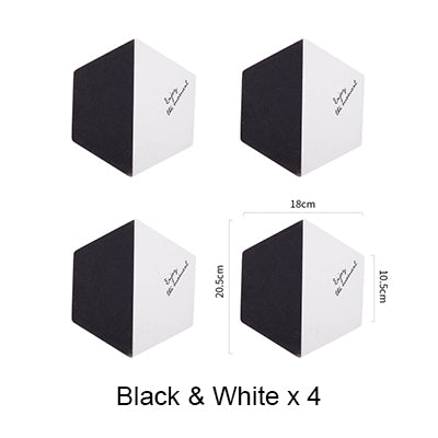 4-Piece Black & White Hexagon Cork Coaster / Hot Pad Set