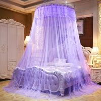 "Elegant 39"" Round Sheer Lace Bed Canopy"