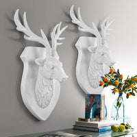 "14"" Wall-Mounted Modern Resin Deer Head Plaque"
