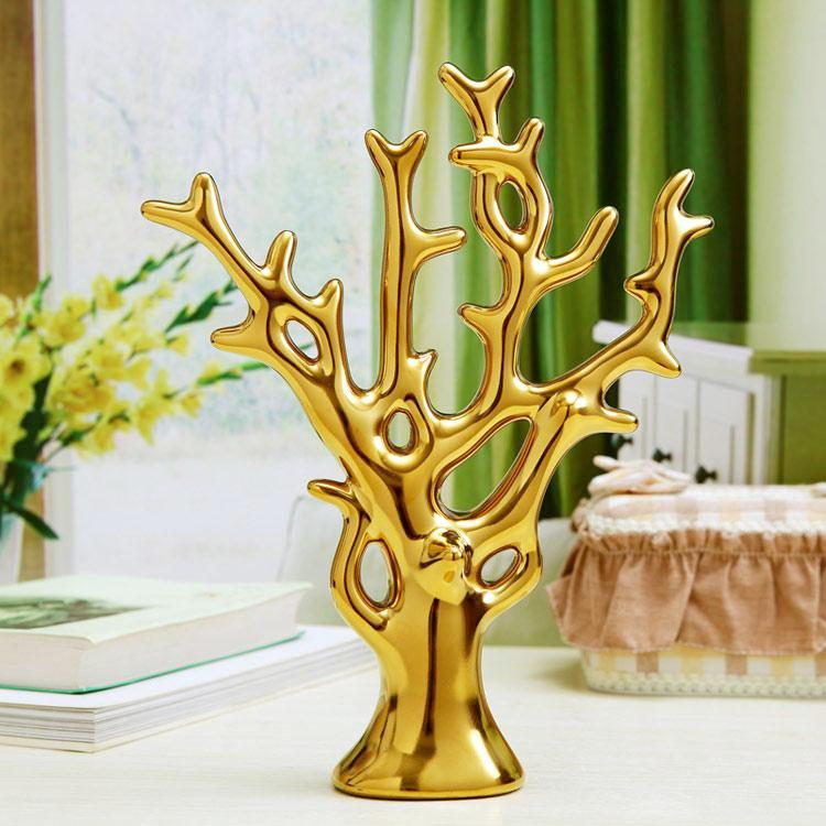 Coral Tree Branch Sculpture / Jewelry Stand