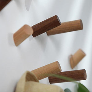 Multi-Purpose Natural Wood Peg Wall Hook Hanger