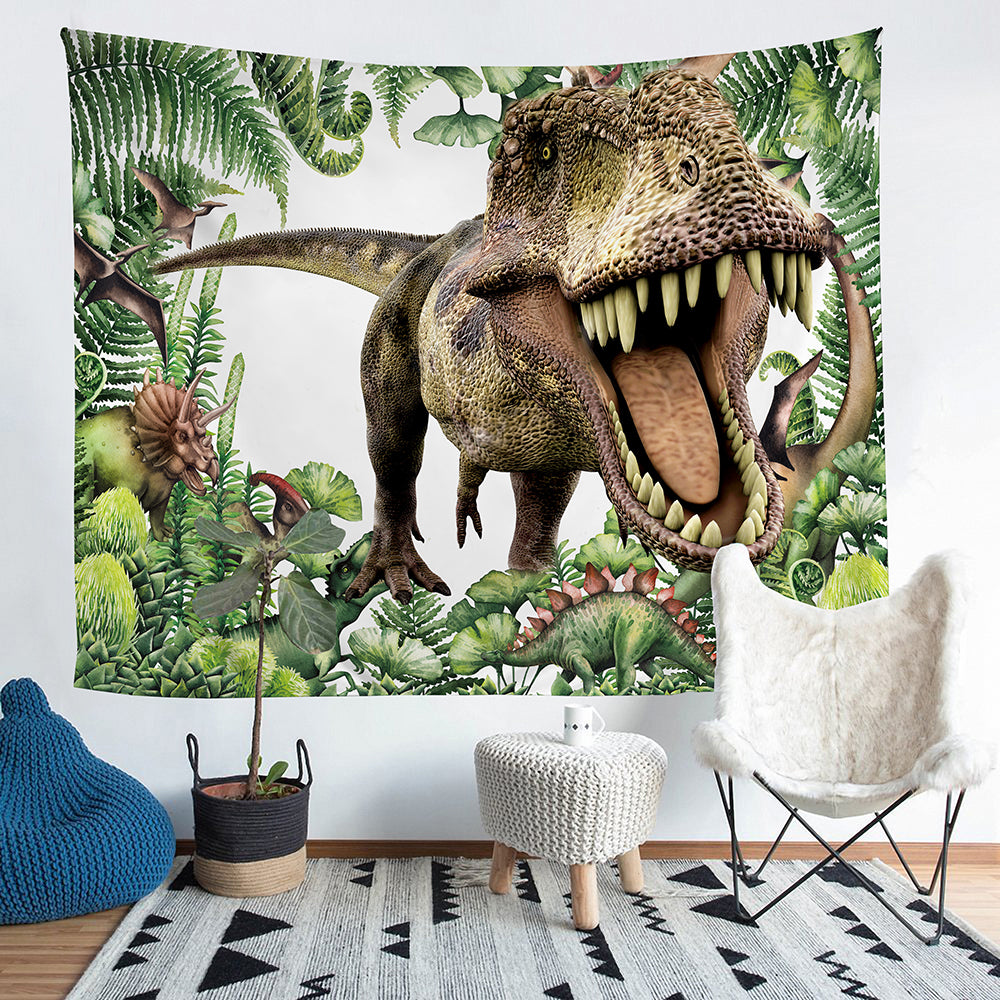 Kids Hungry T-Rex Dinosaur Wall Tapestry