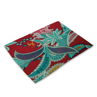 Multi-Color Floral Pattern / Paisley Table Placemat