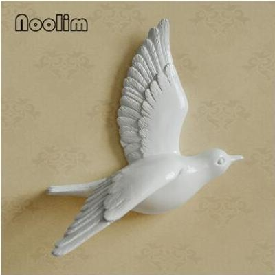 Multi-Color 3D Wall-Mounted Flying Bird Sculpture