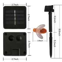 Solar-Power Honey Bee LED String Light
