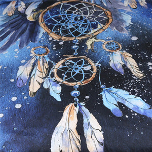 Blue Galaxy Dreamcatcher Wall Tapestry