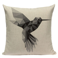 "18"" Simple Nordic Geometric Elements Pillow Cover"