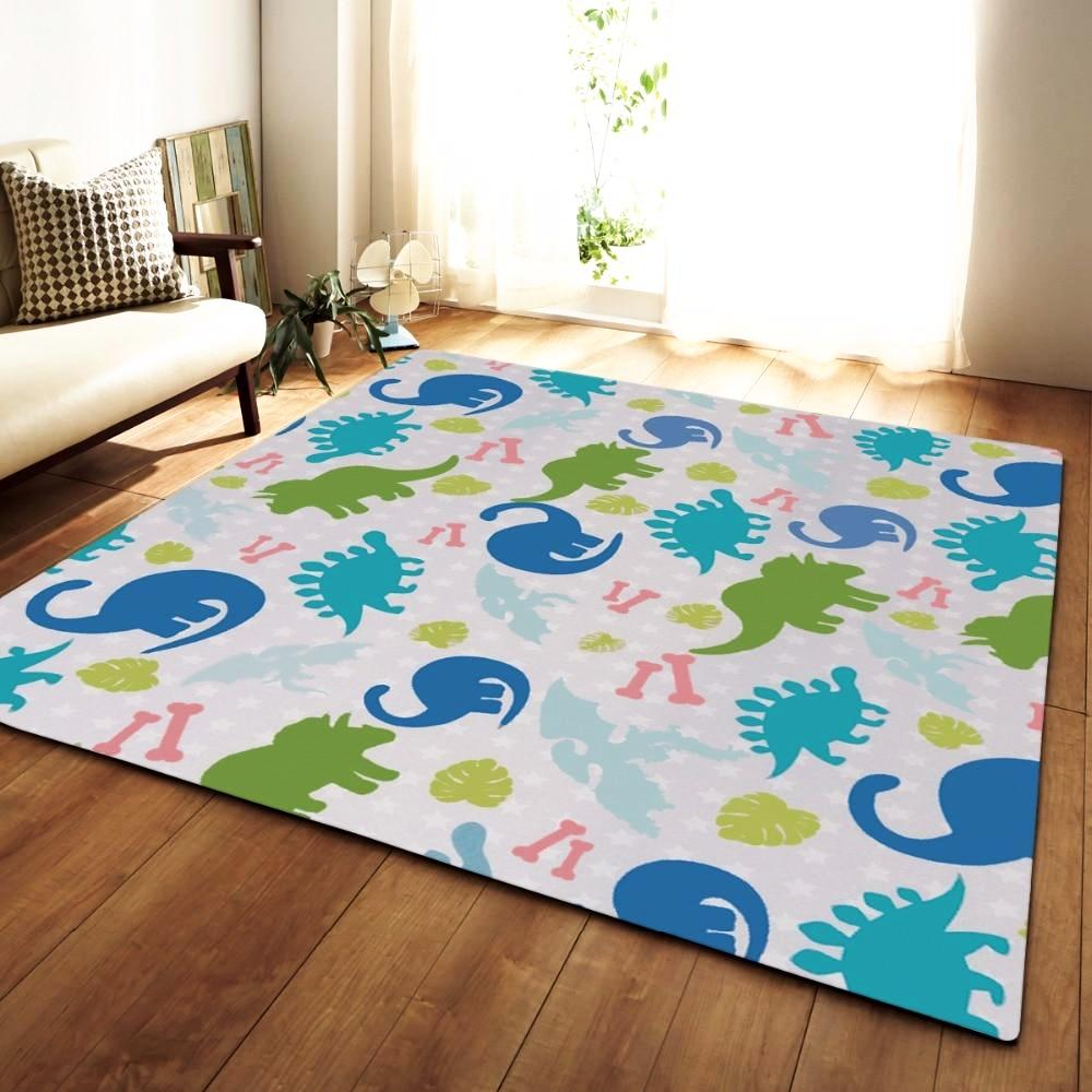 Kids Multi-Color Dinosaur Pattern Area Rug Floor Mat