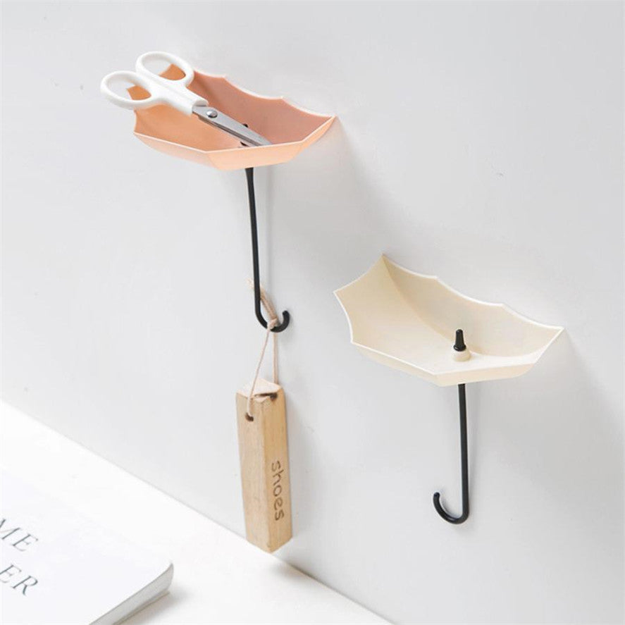3-Piece Pastel Hanging Umbrella Wall Hook Organizer