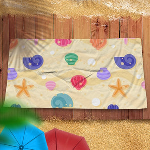 Quick-Dry Seashell / Starfish Microfiber Beach Towel