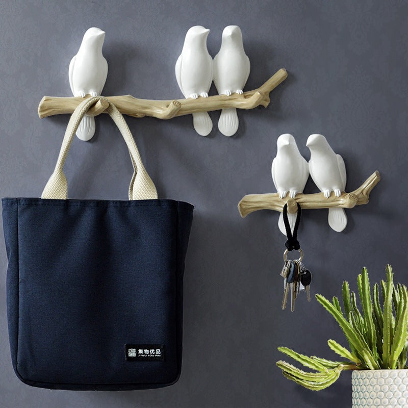 3D Resin Bird Branch Garment Hook / Key Rack