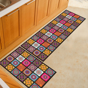 Colorful Bohemian Patchwork Door Mat / Floor Runner