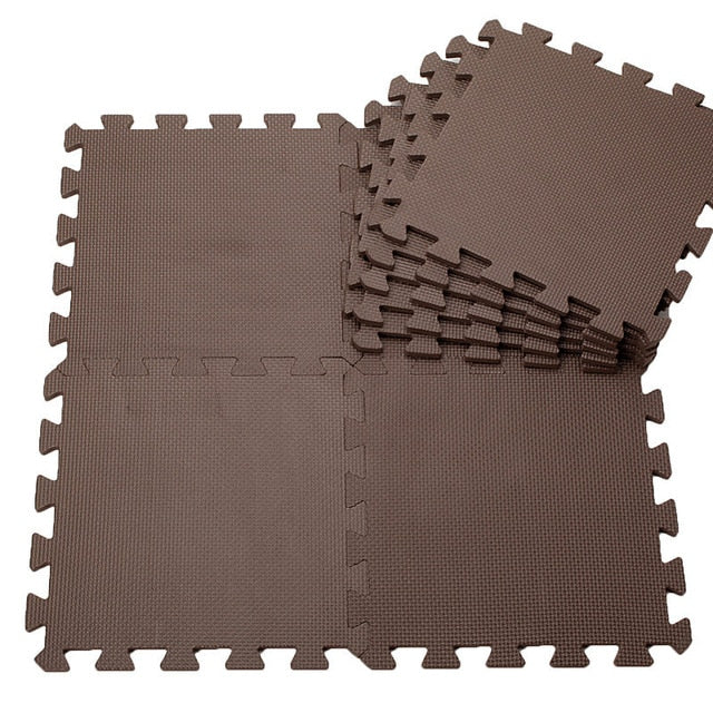 "Solid-Color 12"" Foam Interlocking Floor Mat Tiles"