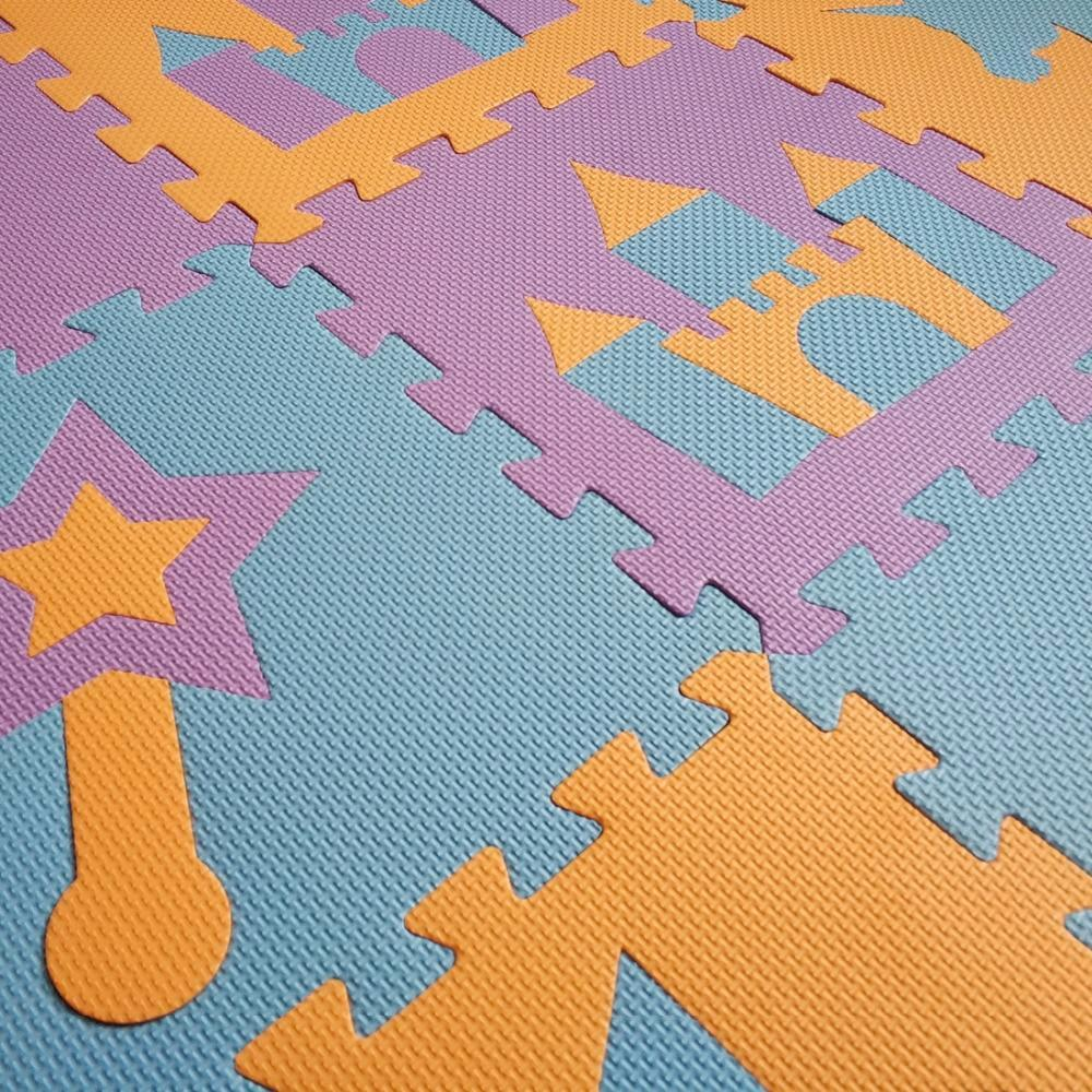 Rainbow Unicorn Castle Foam Interlocking Play Mat